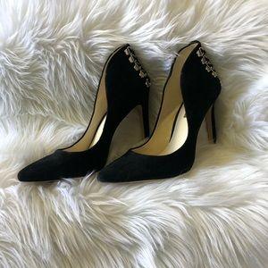 NEW BCBGeneration Black Suede Heels Size 8M